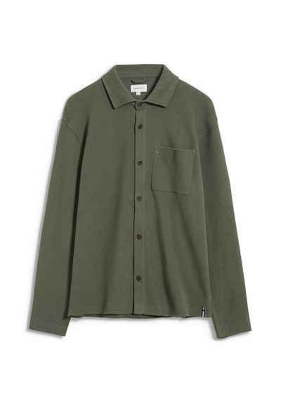 Armedangels Langarmhemd »RAAIK COZY Herren Sweatjacke aus Bio-Baumwolle« (1-tlg)