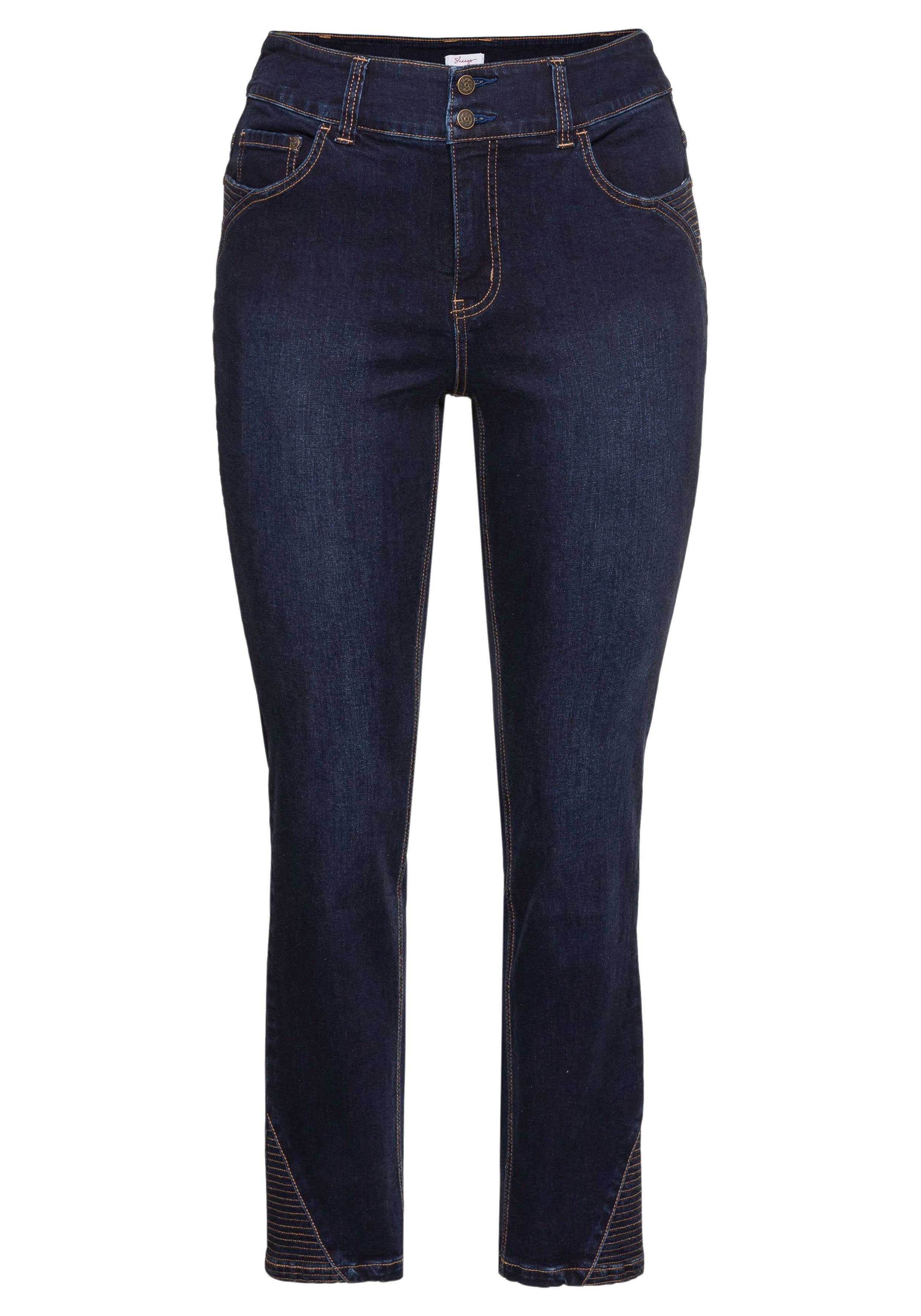 Sheego Gerade Jeans LANA Stretch 5-Pocket Bio-Baumwolle nmlLmi