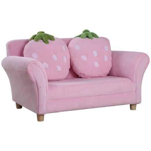 HOMCOM Sofa »Kinder Erdbeersofa«