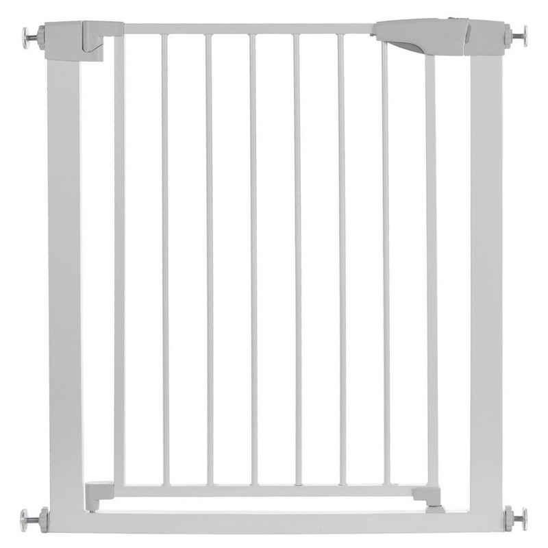 SOFTWEARY Türschutzgitter, 74 - 82 cm verstellbar, Tür-und Treppenschutzgitter aus stabilen Metallröhren