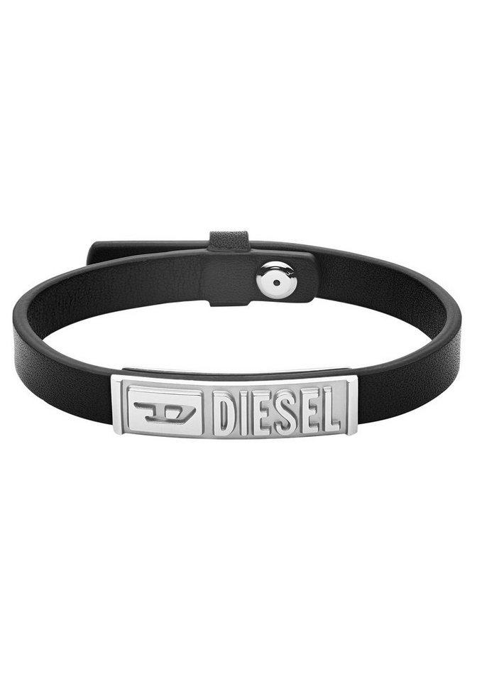 diesel -  Armband »LEATHER/STEEL, DX1226040«