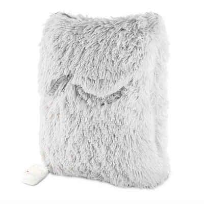 Navaris Heizkissen, 2in1 Elektrisches Kissen und Fußwärmer - 38x38cm 2 Wärmestufen 45W waschbar - Wärmekissen für Rücken Nacken Schulter Füße