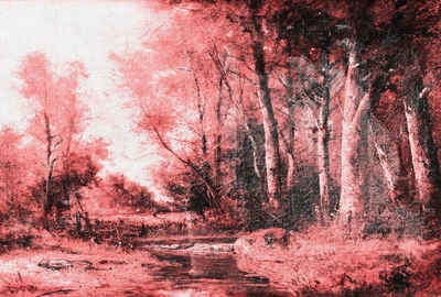Architects Paper Fototapete »Atelier 47 Forest Painting 1«, glatt, Wald, (4 St)