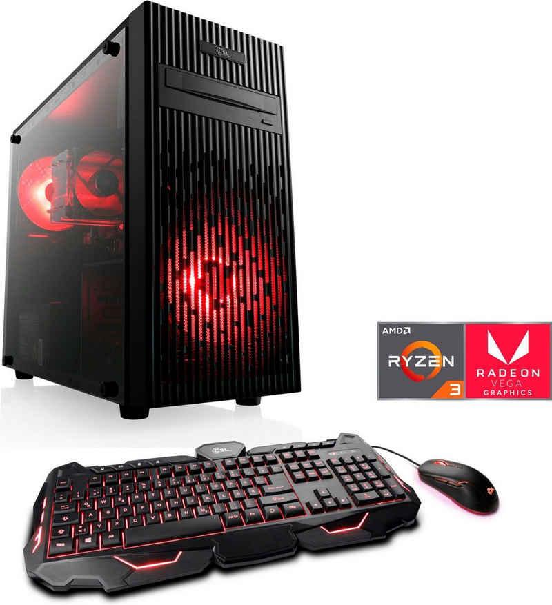 CSL Levitas T8116 Gaming-PC (AMD Ryzen 3 3200G, Radeon Vega 8, 16 GB RAM, 1000 GB SSD, Luftkühlung)