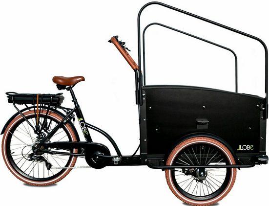 LLobe E-Bike »Cargo-Carrier I«, 7 Gang Shimano, Kettenschaltung, Heckmotor 250 W