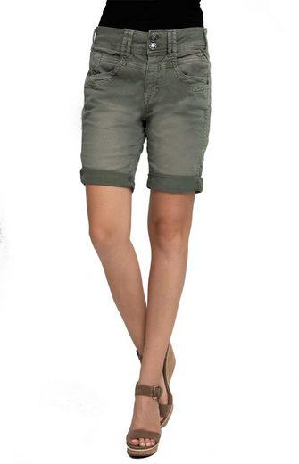 Zhrill Shorts »Leni Posh« Zhrill Damen Shorts Non Denim 5 Pocket Vintage Slim Fit Leni Posh