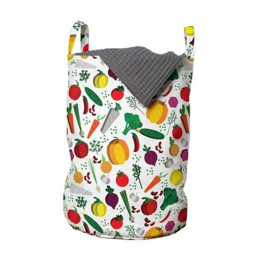 Abakuhaus Wäschesack »Wäschekorb mit Griffen Kordelzugverschluss für Waschsalons«, Bunt Vegetarische Kost Chili