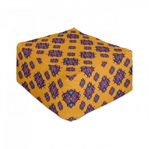 Abakuhaus Pouf »Unter Tisch Fußhocker für Wohnzimmer Büro Ottomane mit Abdeckung«, Geometrisch Diamantförmig Art Design