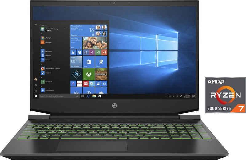 HP Pavilion Gaming 15-ec2275ng Gaming-Notebook (39,6 cm/15,6 Zoll, AMD Ryzen 7 5800H, GeForce RTX™ 3050, 1000 GB SSD, Kostenloses Upgrade auf Windows 11, sobald verfügbar)