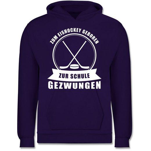 Shirtracer Hoodie »Zum Eishockey geboren. Zur Schule gezwungen - Kinder Premium Kapuzenpullover«