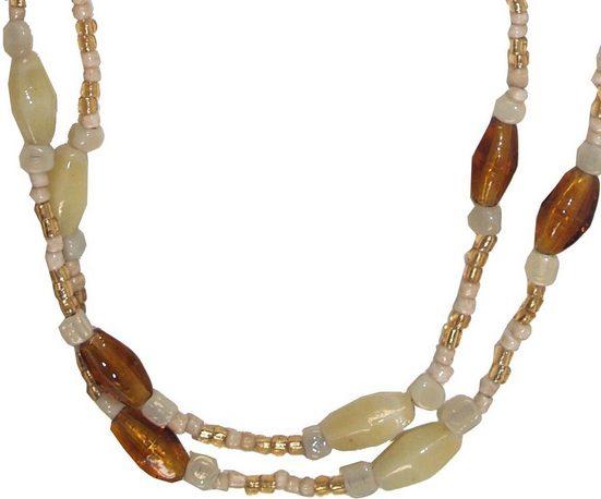 Guru-Shop Perlenkette »Modeschmuck, Boho Perlenkette - Modell 11«