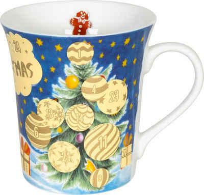 Könitz Becher »Adventskalender«, Porzellan, Rubbelfläche für 24 Adventstürchen