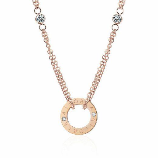 AILORIA Edelstahlkette »APOLLINE« (1-tlg., inkl. Schmucksäckchen), Halskette aus glänzendem Edelstahl
