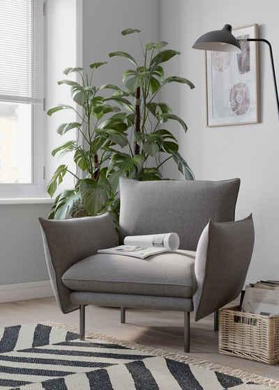 andas Sessel »Stine«, Besonderes Design durch Kissenoptik und Keder, Design by Morten Georgsen