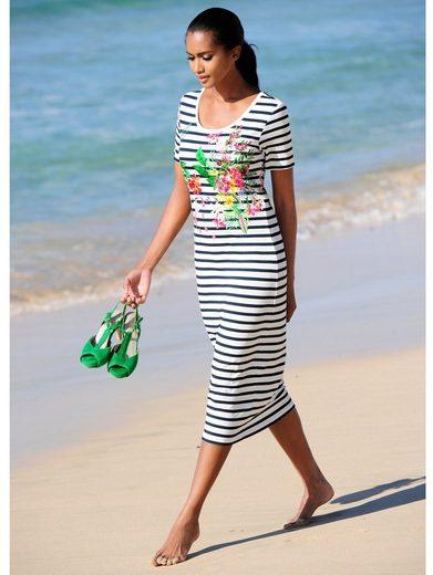 Alba Moda Strandkleid mit Streifen