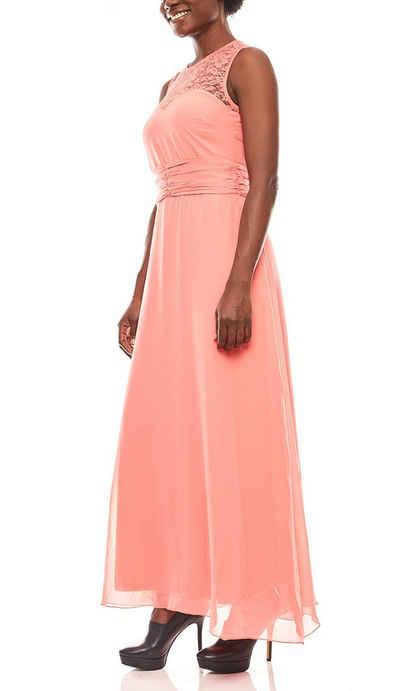 Melrose Abendkleid »melrose weich fließendes Damen Spitzen-Abendkleid Party-Kleid Koralle«