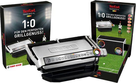 Tefal Kontaktgrill GC722D OptiGrill+ XL inkl. Tipp Kick Spiel, 2000 W