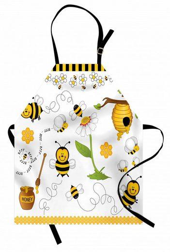 Abakuhaus Kochschürze »Höhenverstellbar Klare Farben ohne verblassen«, Biene Bienen Gänseblümchen Kamille