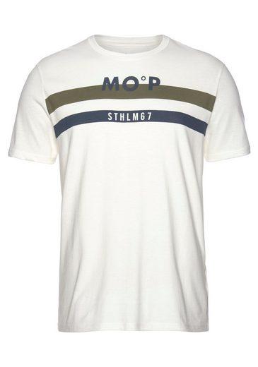 Marc O'Polo T-Shirt Streifen kombiniert mit Print-Druck