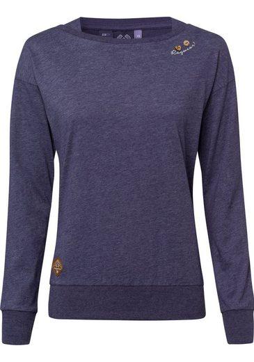 Ragwear Sweatshirt »NEREA« mit Herzknopf-Applikation in Holzoptik