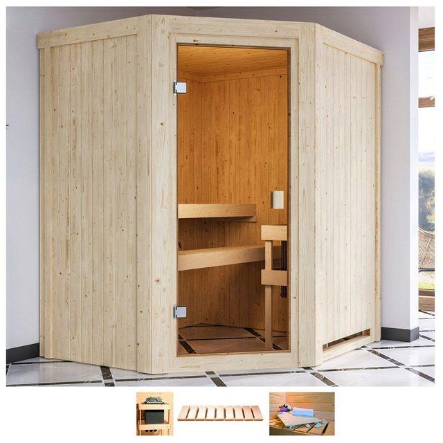 Saunen und Zubehör - Karibu Sauna »Fedder«, BxTxH 170 x 151 x 198 cm, 68 mm, ohne Ofen  - Onlineshop OTTO