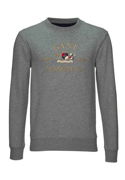 Gant Sweatshirt »D1. FLAG CREST C-NECK SWEAT«