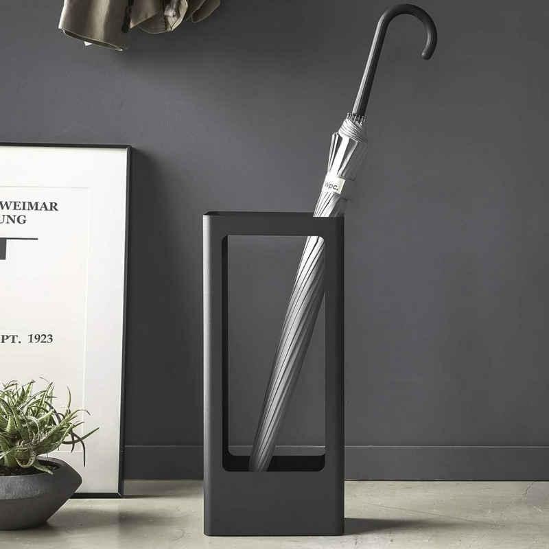 Yamazaki Schirmständer »Tower«, Regenschirmständer, aus Metall, freistehend, modern, schwarz, schlichter skandinavischer Stil