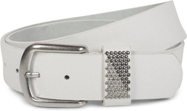 styleBREAKER Synthetikgürtel »Einfacher Gürtel mit zweifarbigen Nieten« Einfacher Gürtel mit zweifarbigen Nieten   Accessoires > Gürtel   styleBREAKER