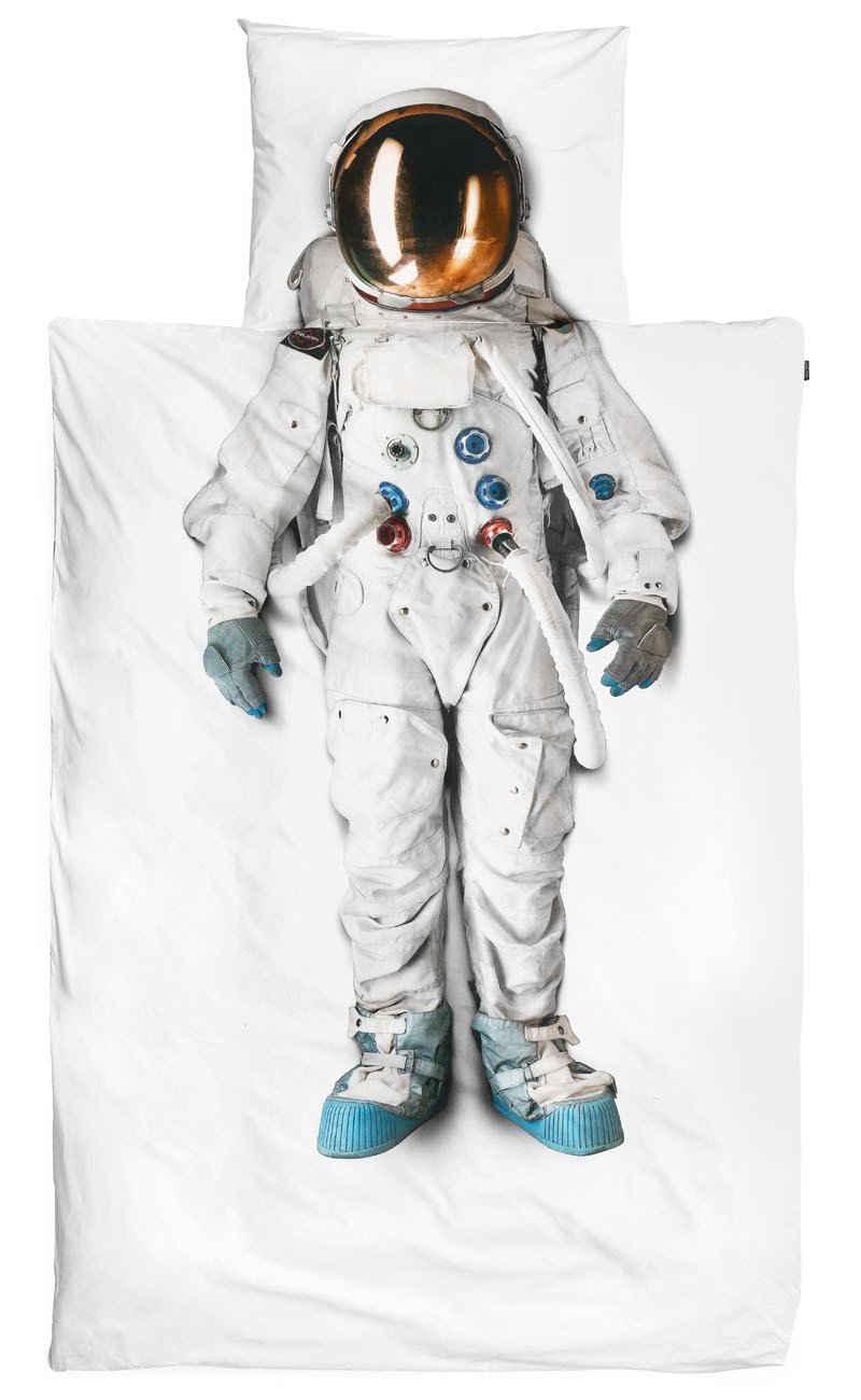 Bettwäsche »Snurk Bettwäsche Astronaut 135 x 200 cm 100% Baumwolle«, Snurk