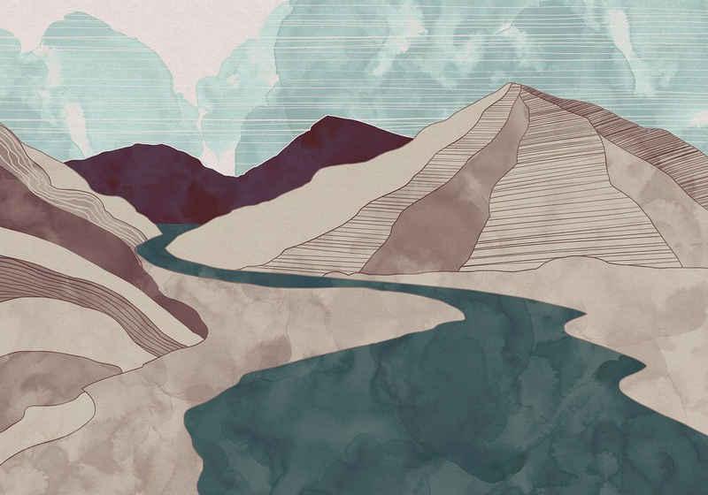 Komar Fototapete »Vliestapete Terra«, glatt, bedruckt, Kunst, Strand, realistisch, 400 x 280 cm