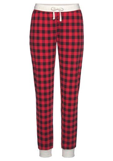 LASCANA Pyjamahose im Karomuster