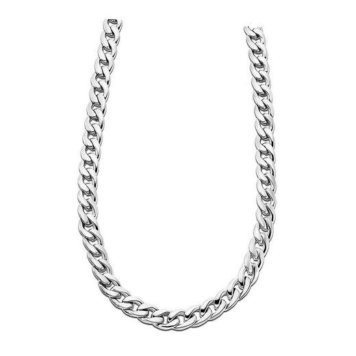 Lotus Style Edelstahlkette »JLS1938-1-1 LOTUS Style Halskette silber« (Halsketten), Halsketten für Herren Edelstahl (Stainless Steel)