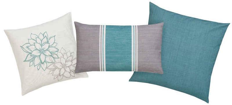Kissenhüllen »Susan«, Home affaire (3 Stück), mit unterschiedlichen Designs in einem Set