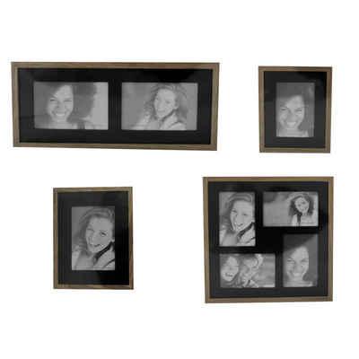 HTI-Line Galerierahmen »Bilderrahmenset Fotogalerie Fotorahmen«, (4 Stück), Bilderrahmen-Set