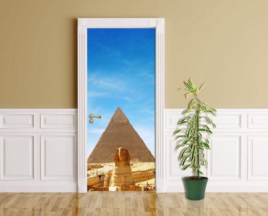Bilderdepot24 Türtapete, Pyramiden Sphinx, selbstklebendes Vinyl