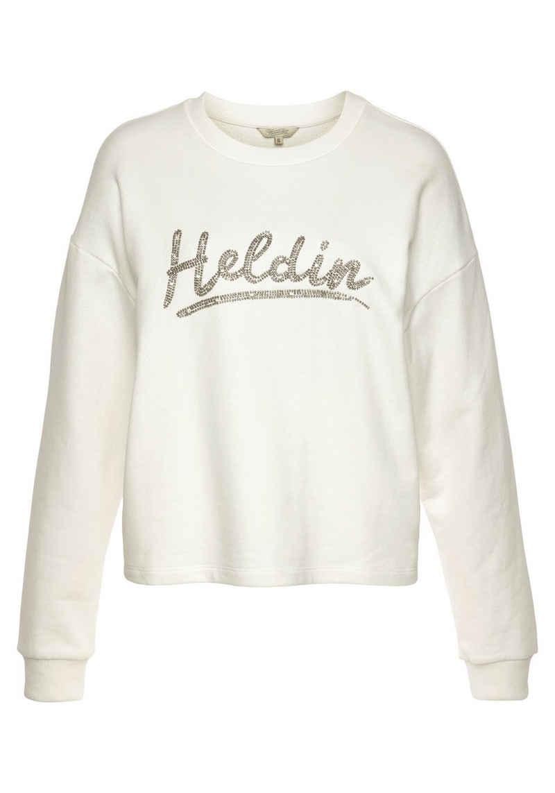 Herrlicher Sweatshirt »GLENNIE« mit Herrlicher Logo-Statement-Print