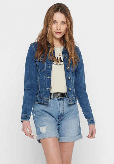 Only Jeansjacke »TIA« in leichter Used-Waschung mit Stretch
