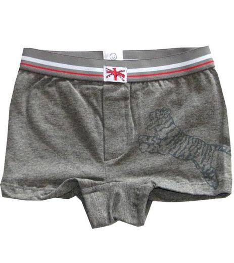 Kanz Shorts »KANZ Unterhose gemütliche Kinder Shorts Unterwäsche mit Tiger-Print Grau«