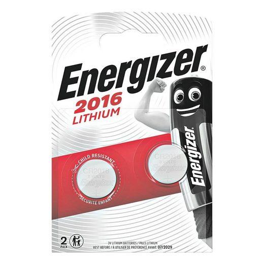 Energizer »Spezial Lithium« Knopfzelle, (2 St), CR 2016, lange Lebensdauer