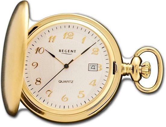 Regent Taschenuhr »D2URP015 Regent Damen Herren Taschenuhr P-15«, Herrenuhr, rundes Gehäuse, groß (ca. 44mm), Elegant-Style