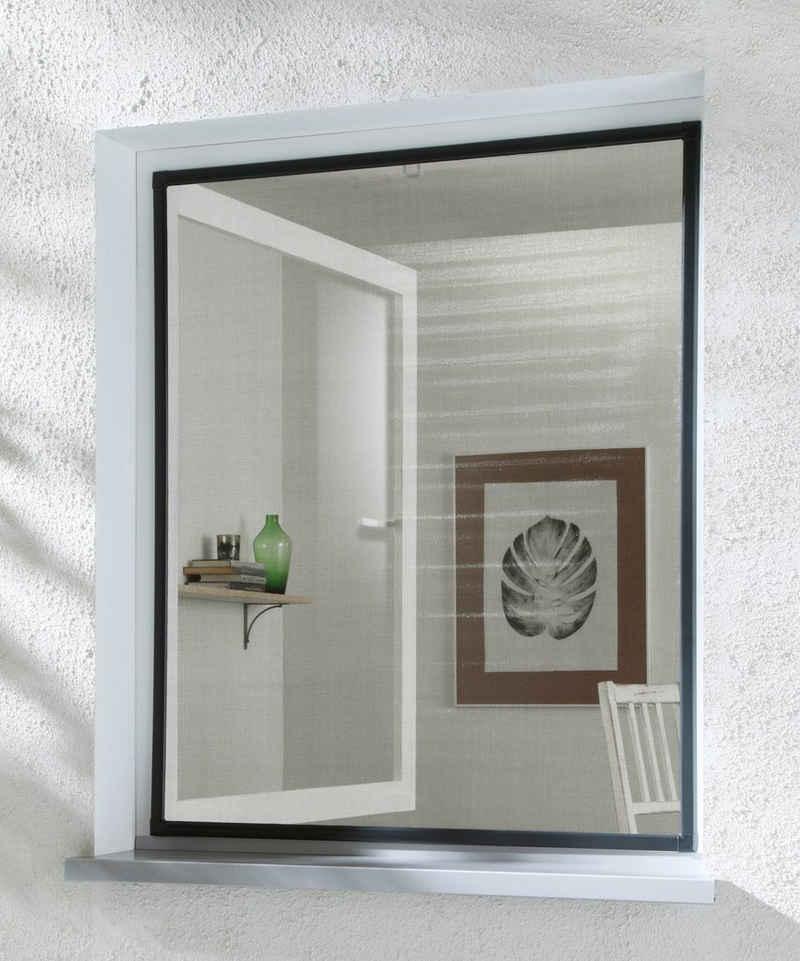 hecht international Insektenschutz-Fenster »BASIC«, anthrazit/anthrazit, BxH: 130x150 cm
