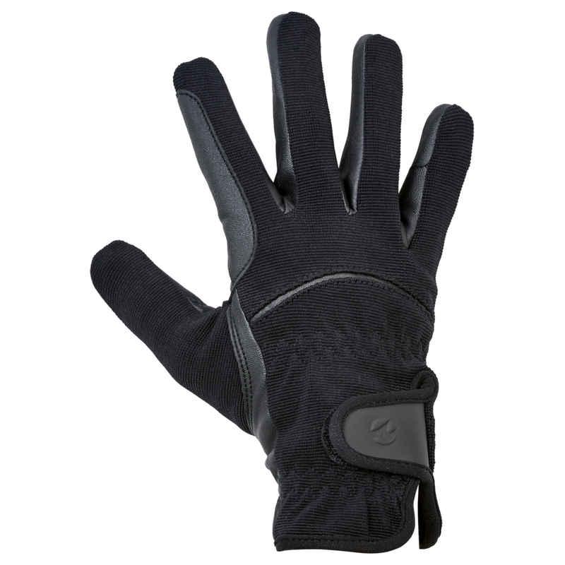 BUSSE Reithandschuhe »Kaya Winter schwarz« gesamte Handinnenfläche aus strapazierfähigem, elastischem anti-slip Kunstleder