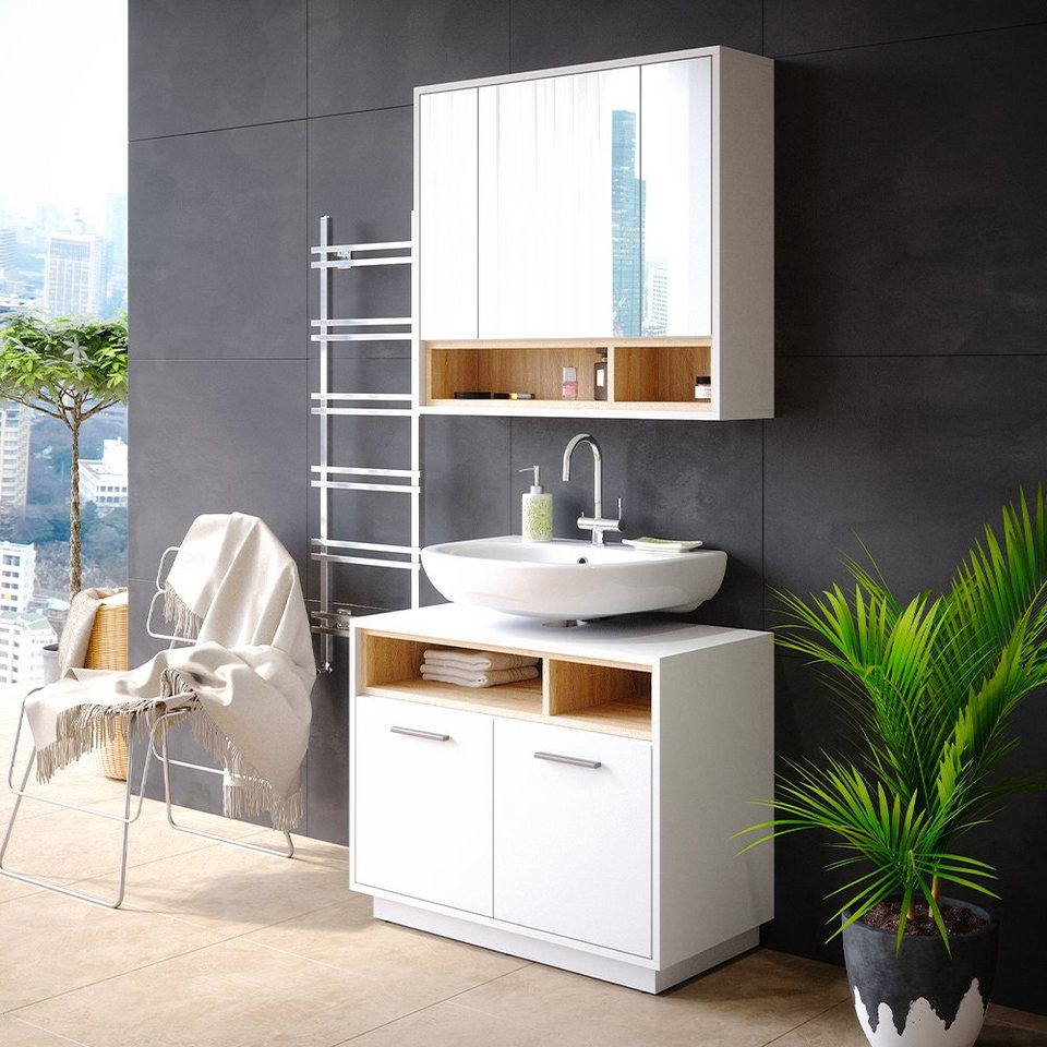 Vicco Badezimmer Set »Badmöbel Badezimmermöbel Beatrice 20er Set aus  Spiegelschrank Unterschrank« online kaufen   OTTO
