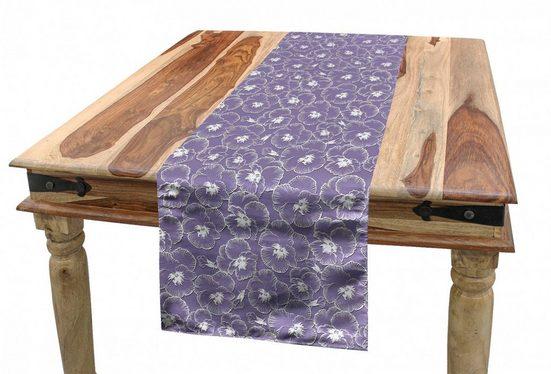 Abakuhaus Tischläufer »Esszimmer Küche Rechteckiger Dekorativer Tischläufer«, Blumen Pastell Veilchen von Wiese
