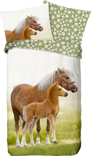 Kinderbettwäsche »Young«, good morning, mit Pferden