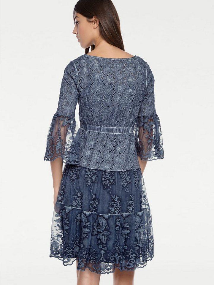 Festtagsmode - ASHLEY BROOKE by Heine Spitzenkleid »Spitzen Kleid« › blau  - Onlineshop OTTO