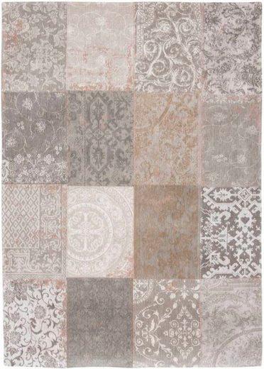 Teppich »MULTI 8982 GHENT BEIGE«, louis de poortere, rechteckig, Höhe 3 mm, Patchwork Motiv, Wohnzimmer