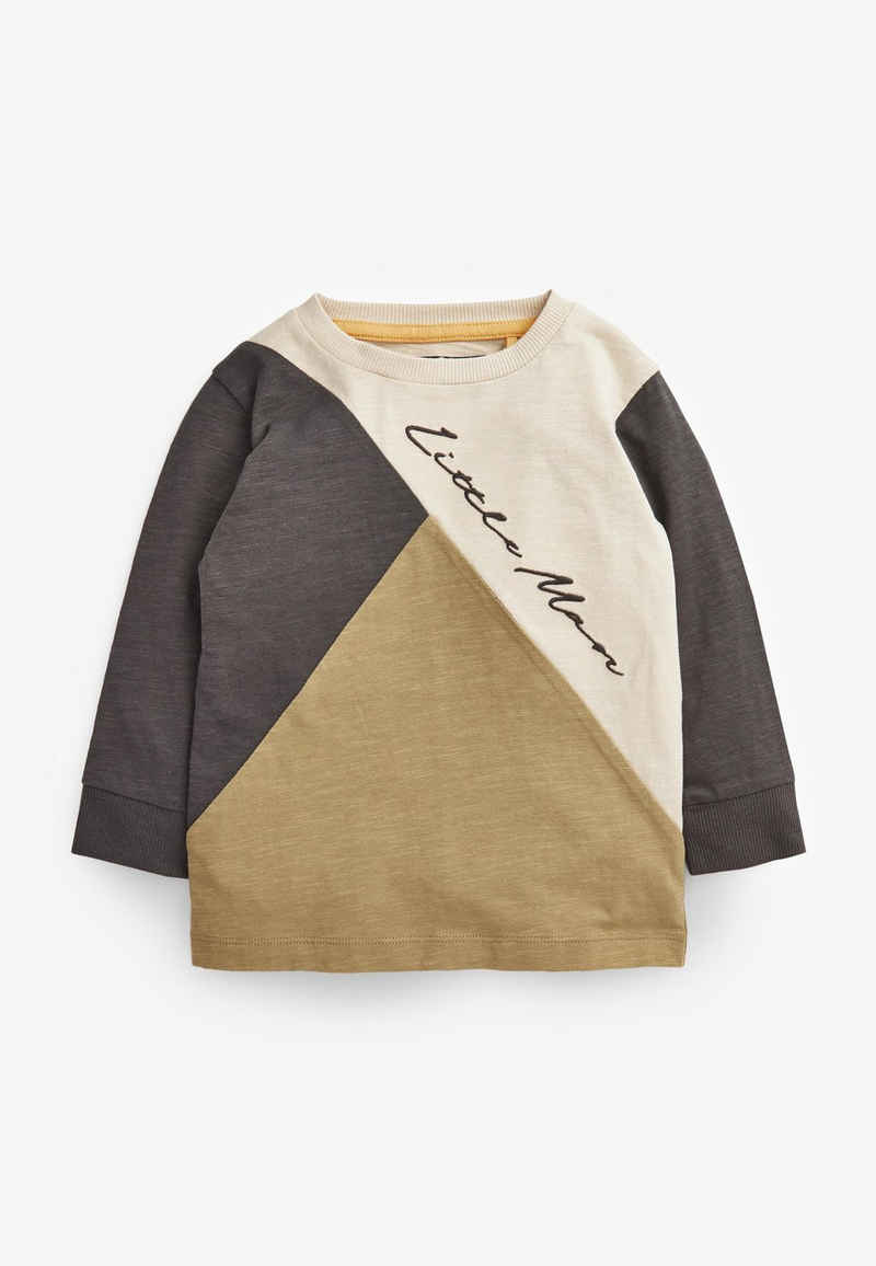 Next Langarmshirt »Langärmliges T-Shirt in Blockfarben« (1-tlg)