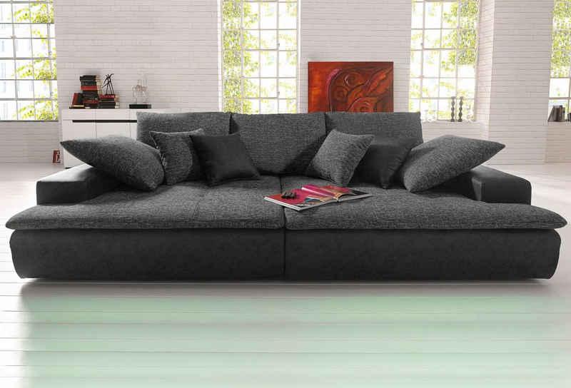 Nova Via Big-Sofa »Haiti«, wahlweise mit Kaltschaum (140kg Belastung/Sitz) und RGB-LED-Beleuchtung, in verschiedenen Größen erhältlich