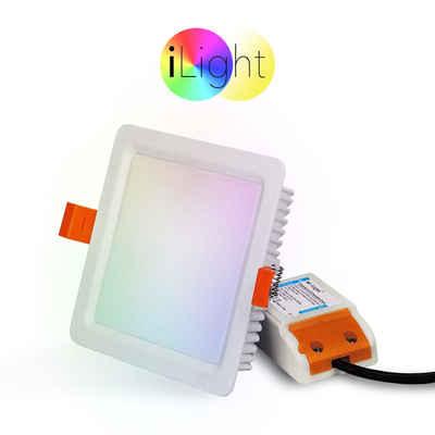 s.LUCE LED Einbaustrahler »iLight LED Panel 12x12cm RGB«